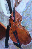 To the Beat of the Bass by S. Kay Burnett, Encaustic, 18 in x 12 in x 2 in